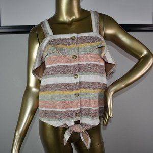 MADEWELL TEXTURE & THREADS Blouse Size Large L top